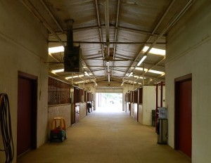Aisle of Main Barn
