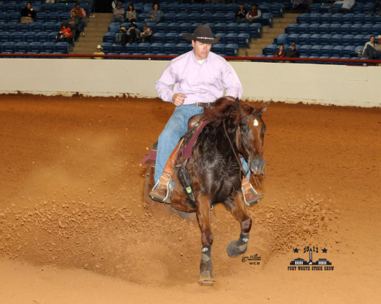 Joe Weitekamp riding Sliding A Legend at the Fort Worth Stock Show 2013